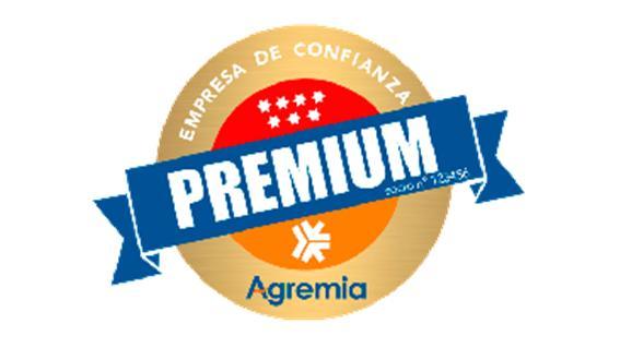 Sello de empresa premium de Agremia